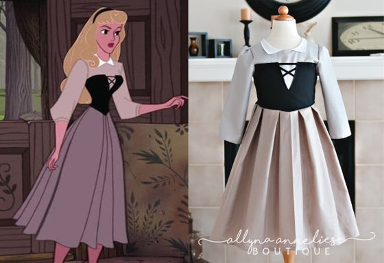 Image of Briar Rose (Aurora) Peasant Inspired Dress