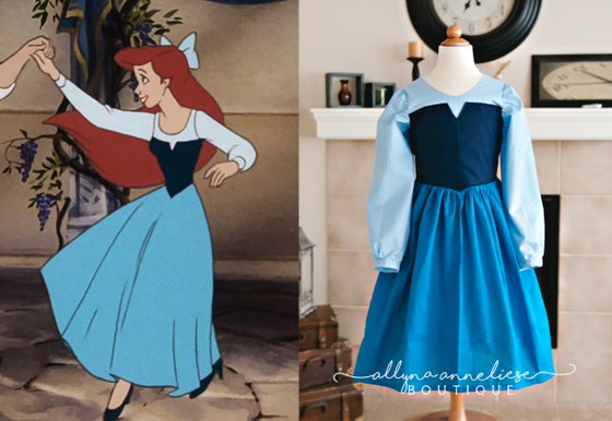 Image of Ariel Peasant Inspired Dress