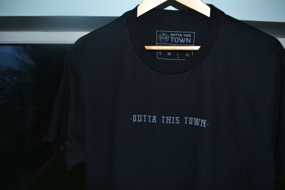 Image of Alex Faulkner x Outta This Town Wild Bear T-shirt Black