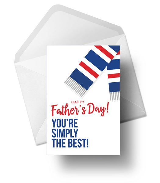 Image of  Father's Day Cards for Rangers Fans (White Version)