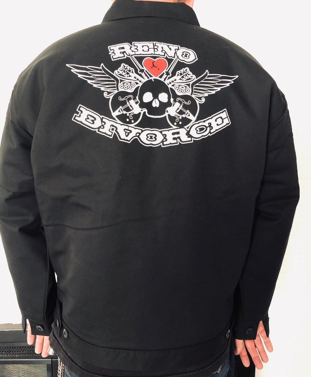 """Reno  Divorce Black Falcons """"Mechanics Coat"""" or """"Bomber Jacket"""""""