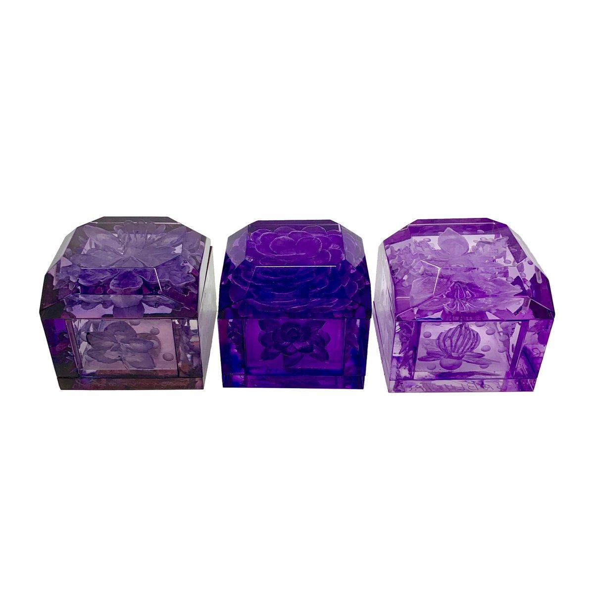 Image of Mini Lucite Boxes (Purple Tones)
