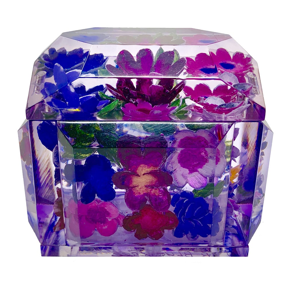 Image of Mini Victorian Painted Lucite Box