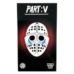 Image of Part V Mask v2 Blue Classic (Enamel Pin)