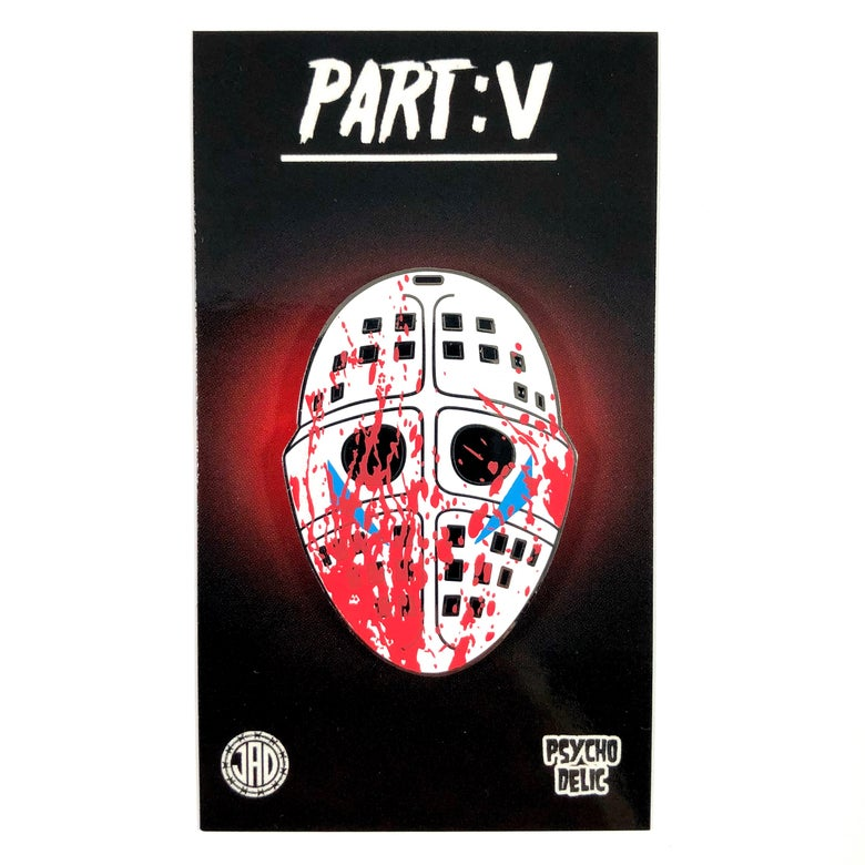 Image of Part V Mask v3 Blood Splatter (Enamel Pin)