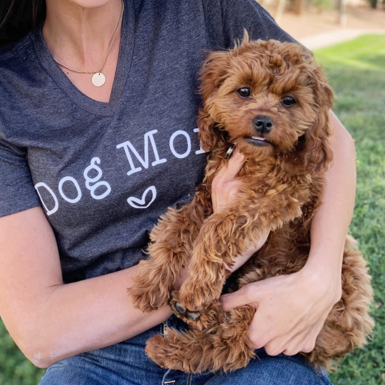 Image of Dog mom tee
