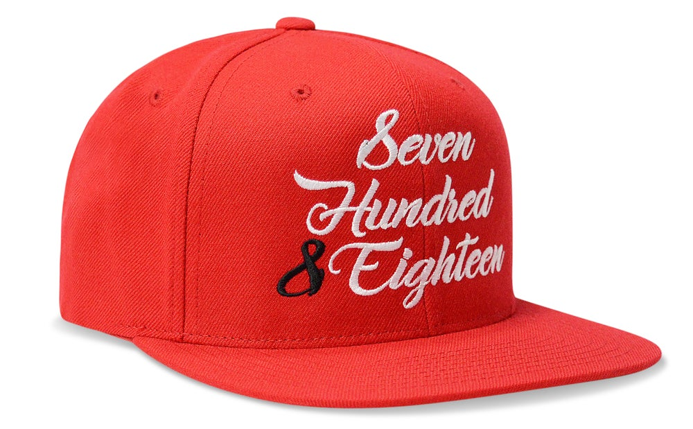 Image of SEVEN HUNDRED & EIGHTEEN (RED) - SNAPBACK