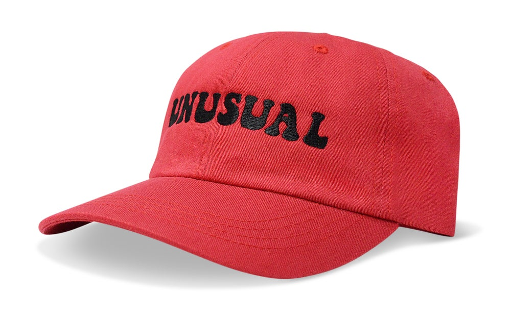 Image of UNUSUAL (RED) - DAD HAT