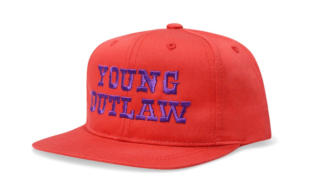 Image of YOUNG OUTLAW (RED/PURPLE) - KIDS SNAPBACK