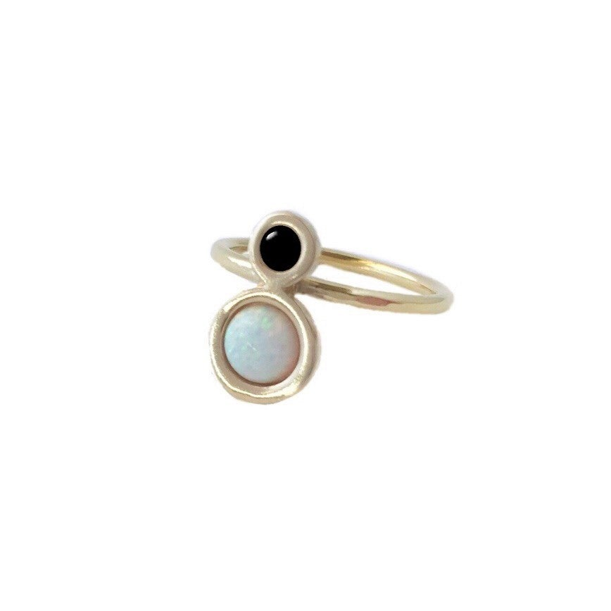 Image of Mini Orbit Ring with Opal