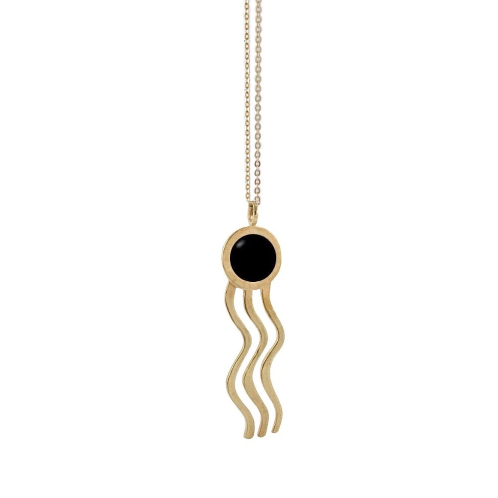 Image of Wiggle Necklace with Black Onyx