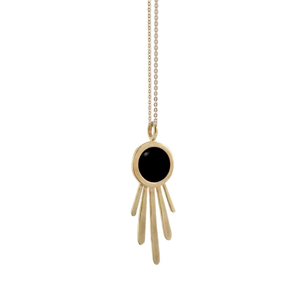 Image of Burst Necklace with Black Onyx