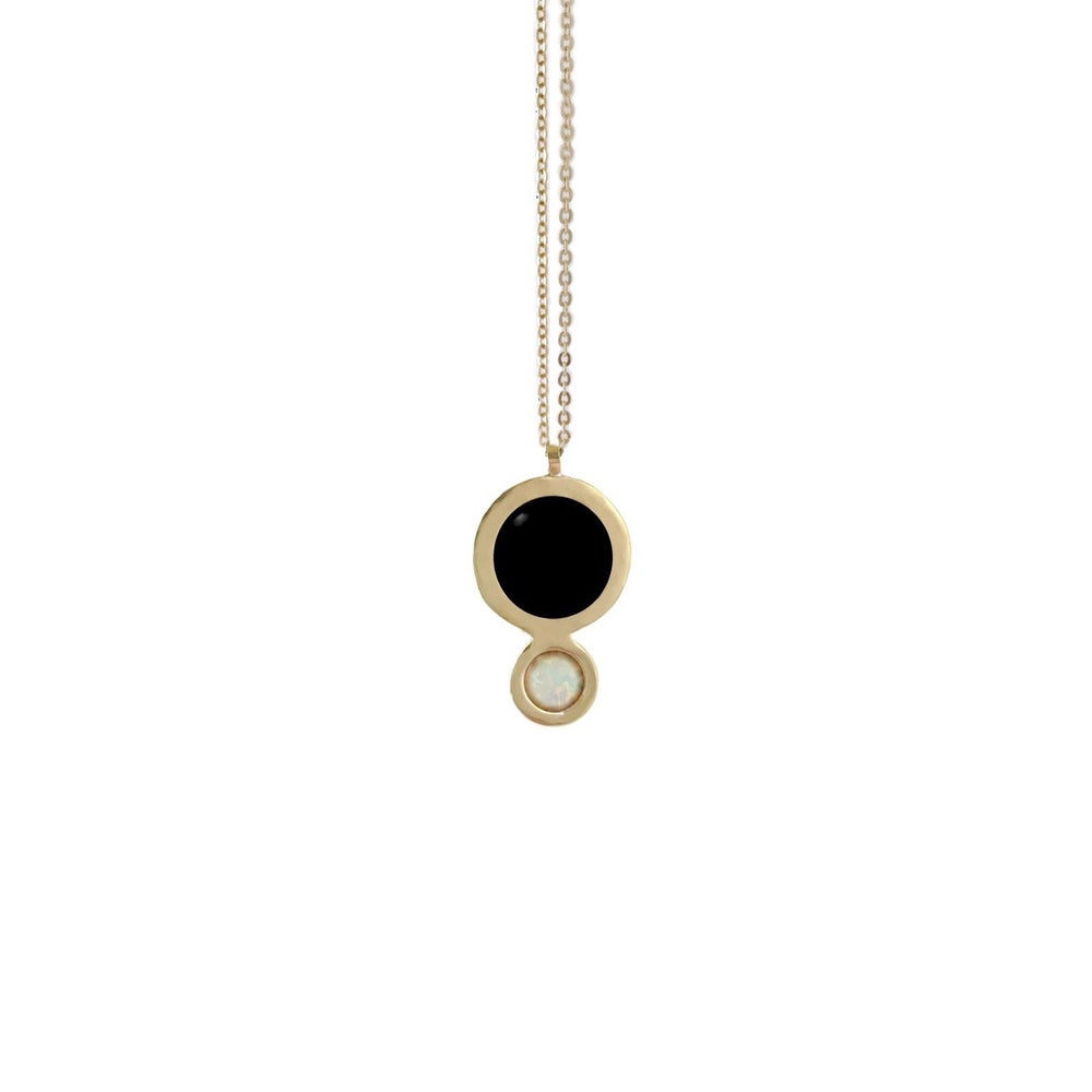 Image of Orbit Necklace with Large Black Onyx