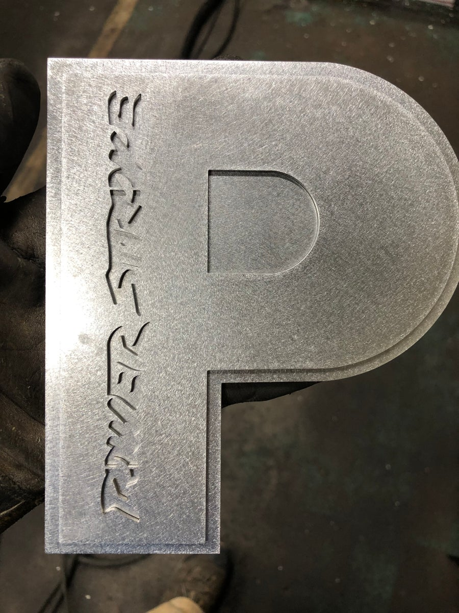 Image of Power stroke dual plate grill badge