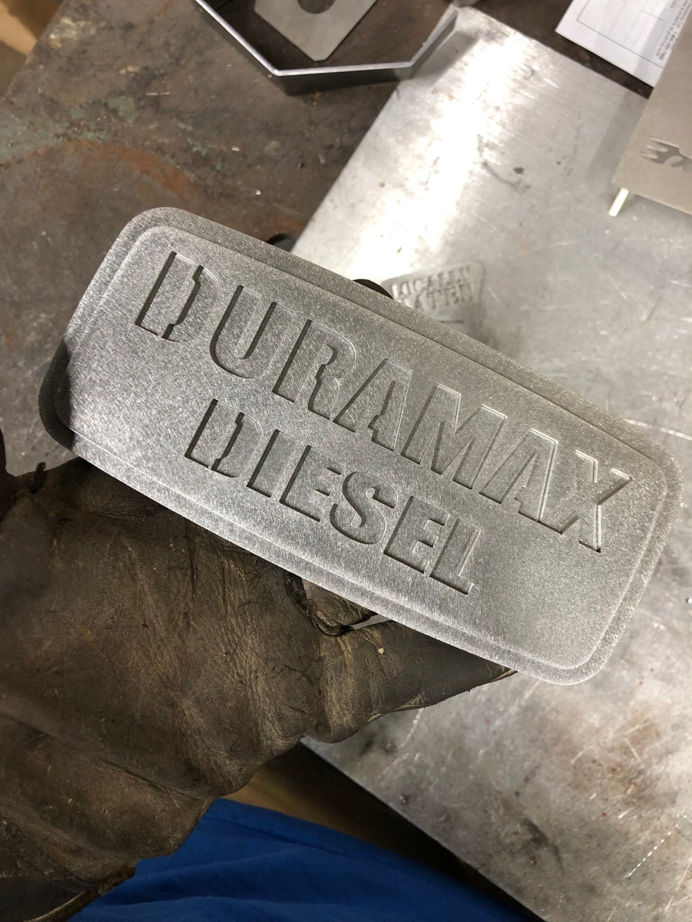 Image of Duramax dual plate grill badge