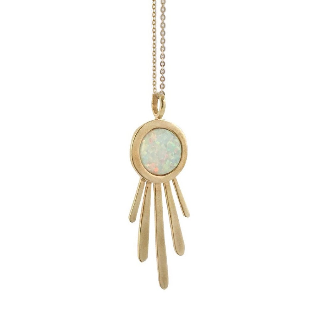 Image of Burst Necklace with Opal