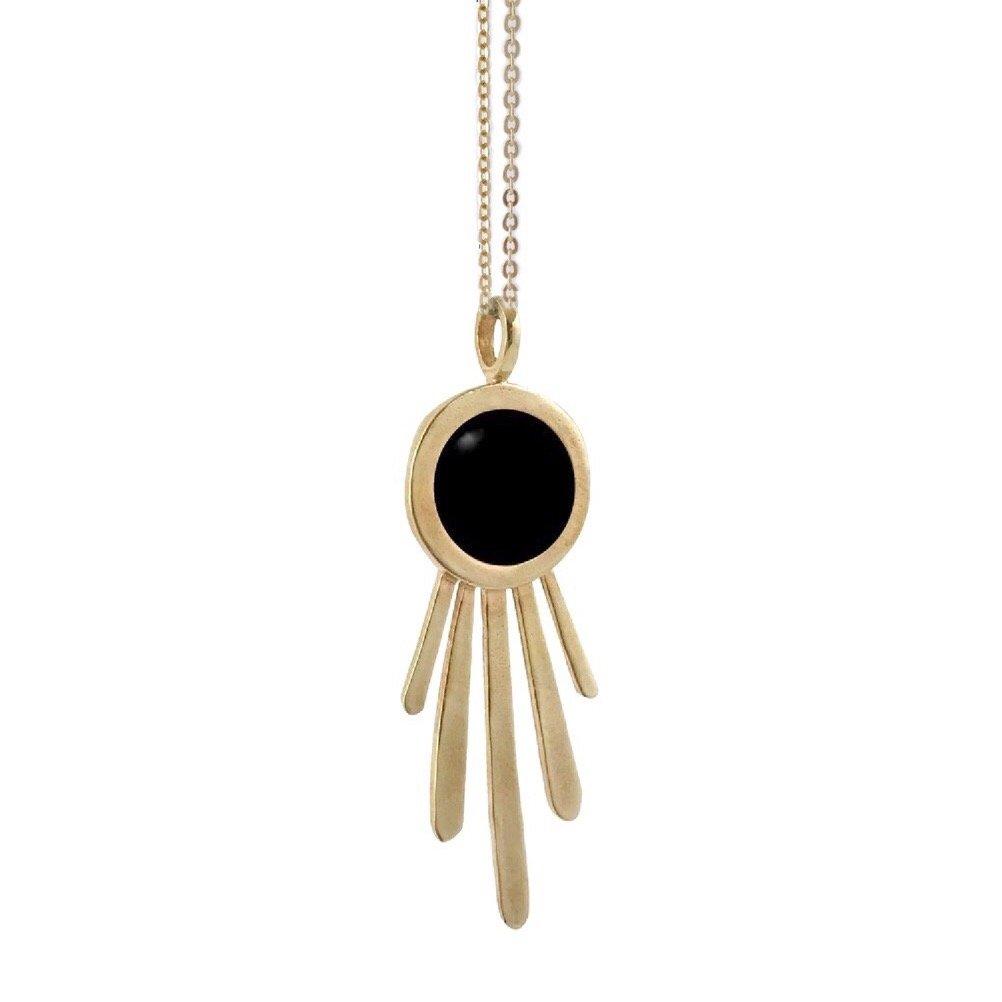 Image of Burst Necklace with Black Onyx