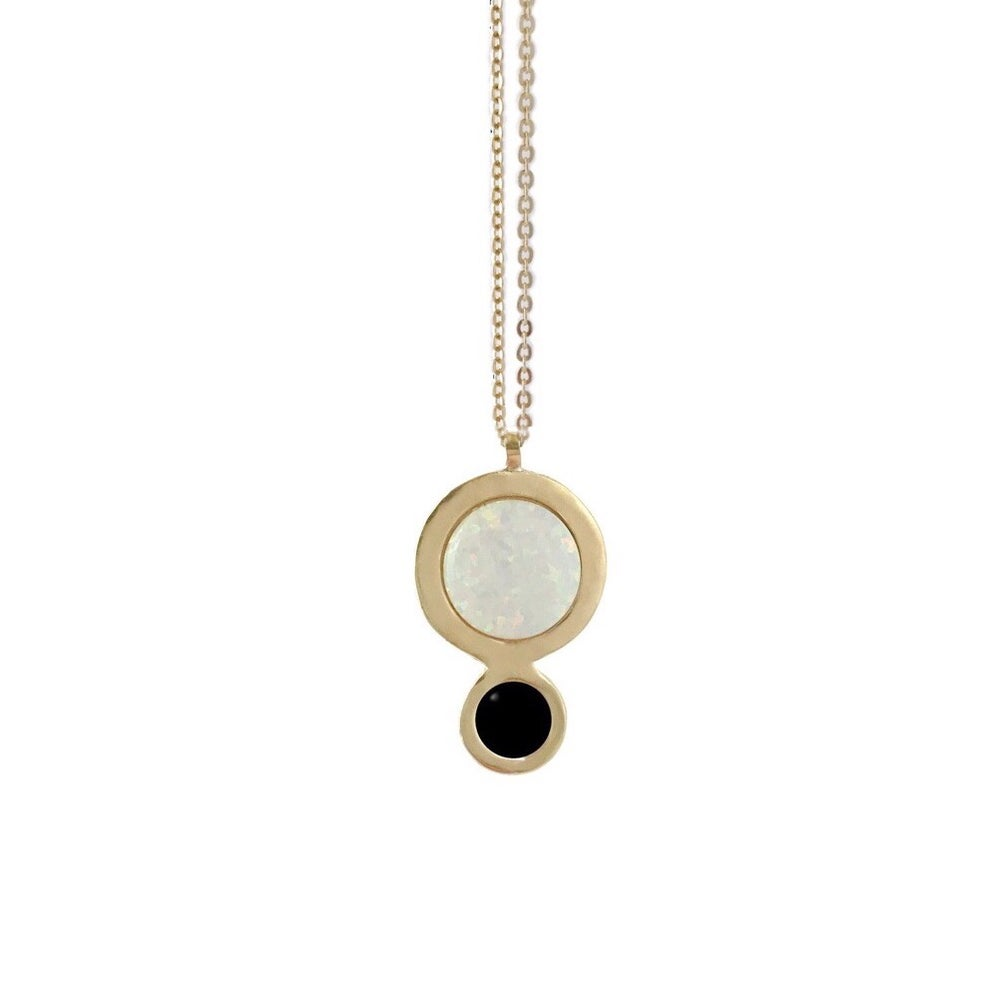 Image of Orbit Necklace with Large Opal