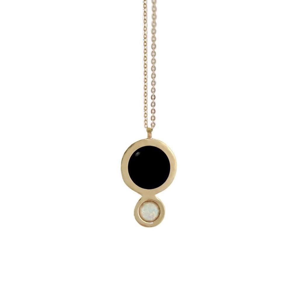 Image of Orbit Necklace with Large Black Onyx