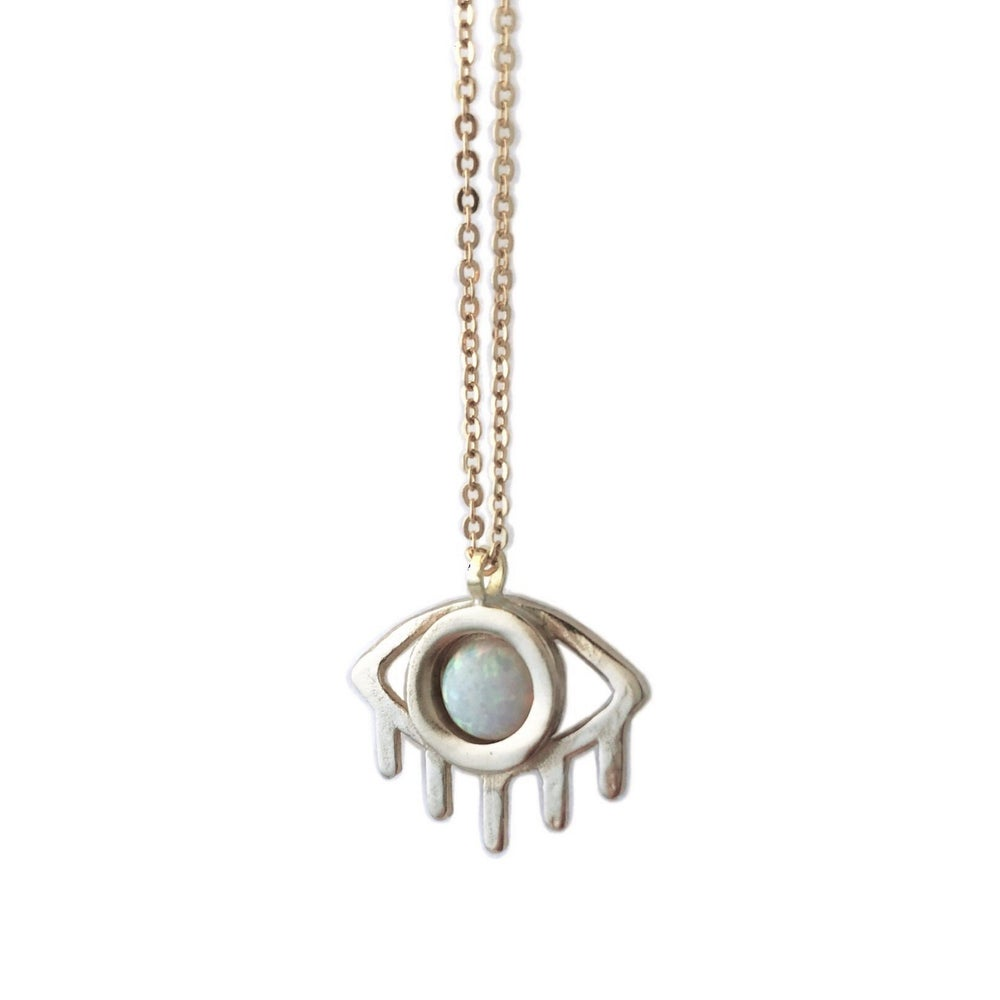 Image of Eye Necklace with Opal