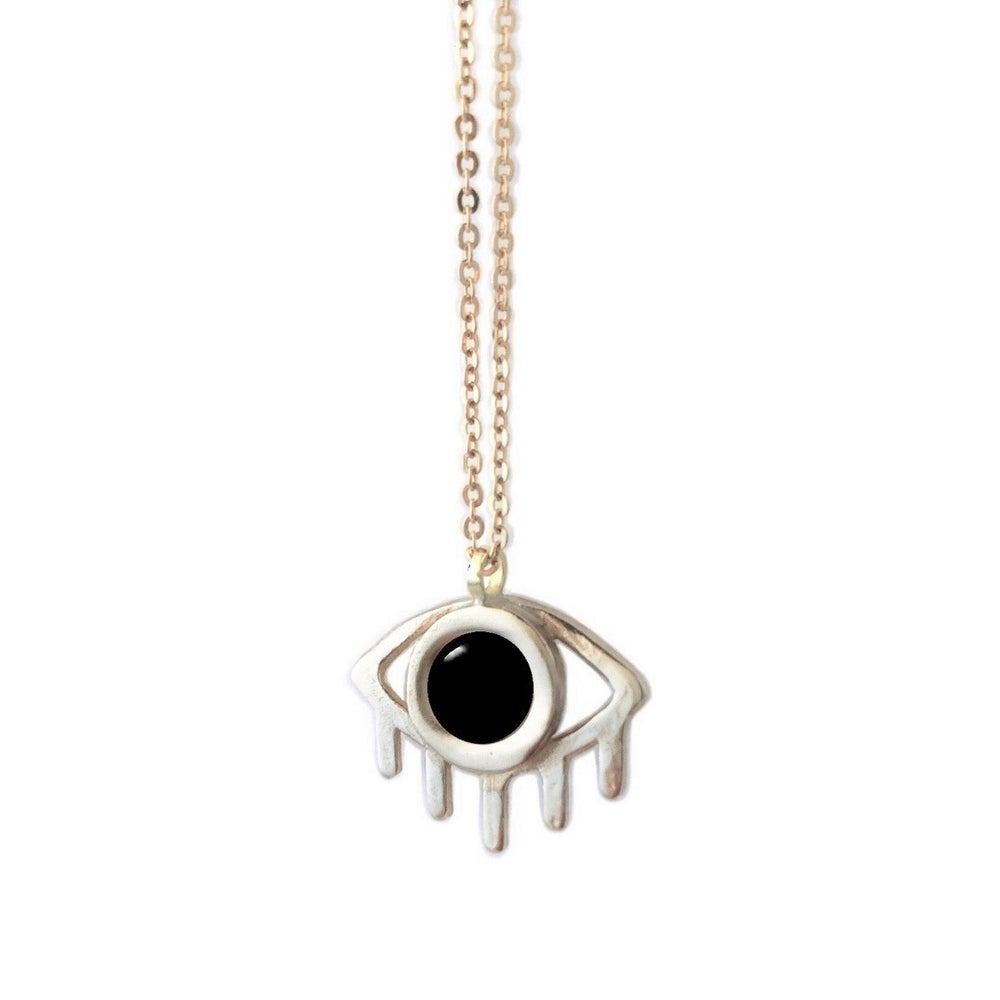 Image of Eye Necklace with Black Onyx