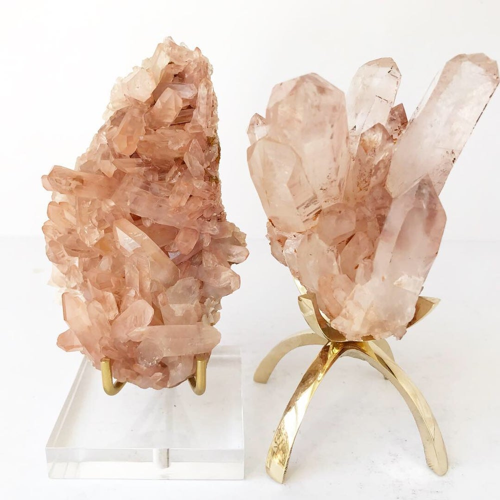 Image of Pink Quartz no.03 Pink Dreams Collection Lucite Pairing