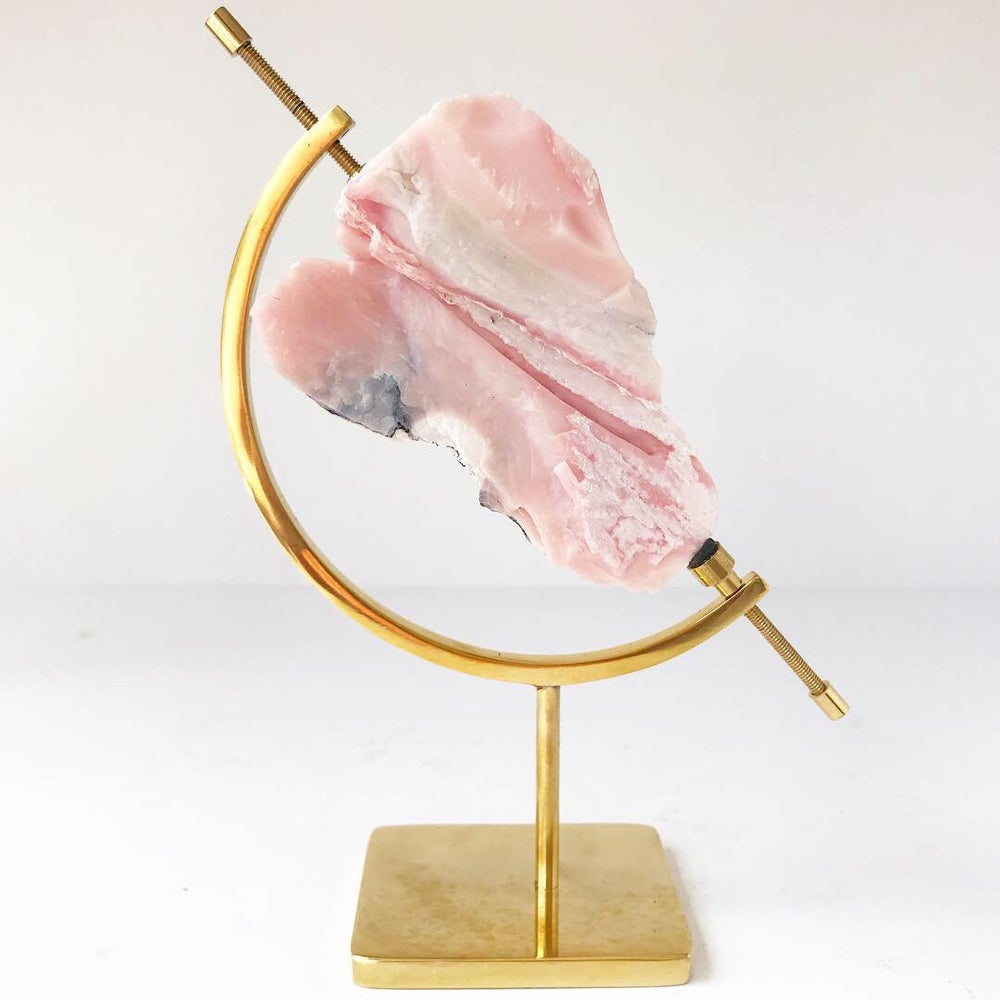 Image of Pink Opal no.01 Pink Dreams Collection Brass Pairing