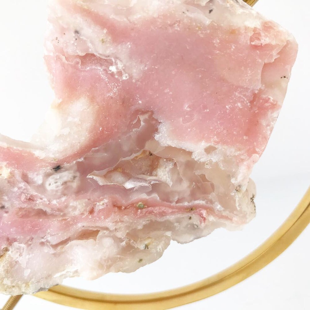 Image of Pink Opal no.05 Pink Dreams Collection Brass Pairing