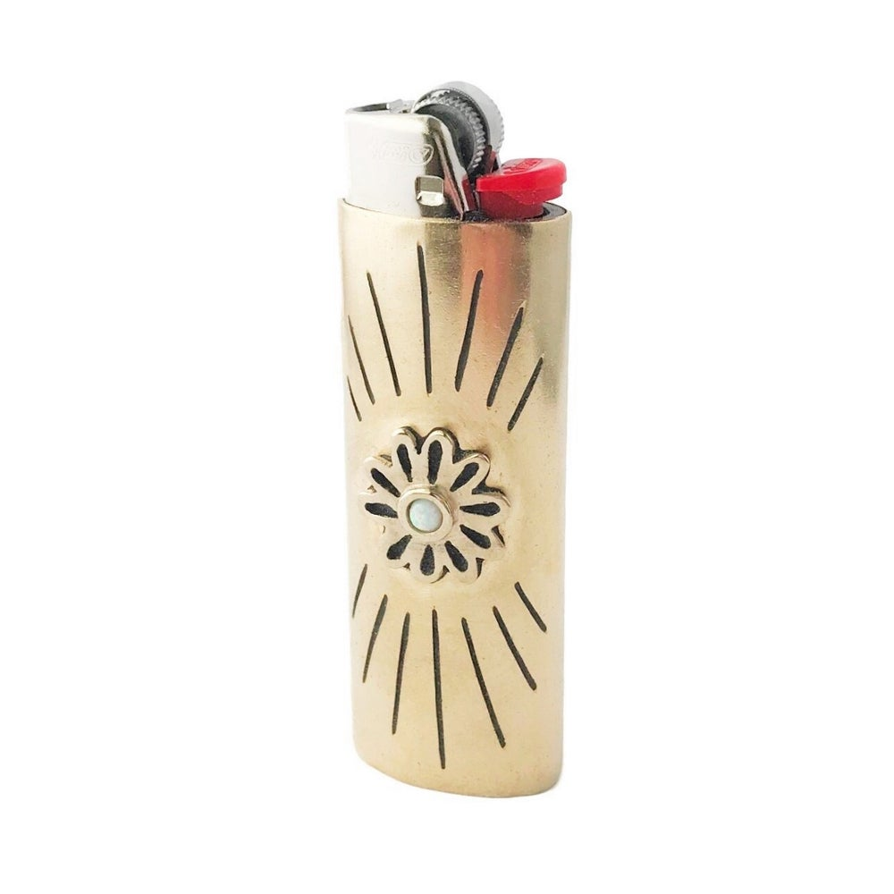 Image of Flower Lighter Case with Opal