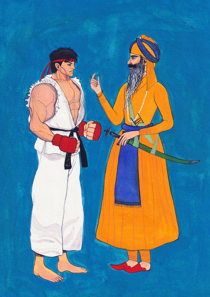 Image of Fine Art Print - Ryu and Hari Singh Nalwa - A4