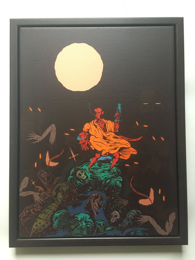 Image of Hellboy 20th Framed Canvas Print