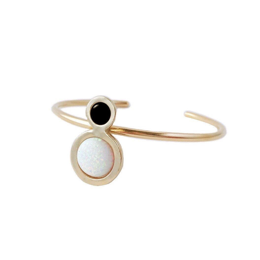 Image of Orbit Cuff Bracelet with Large Opal