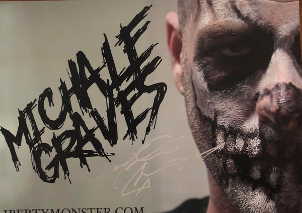 "Image of Michale Graves ""3/4 face"" 12x18 poster hand signed"