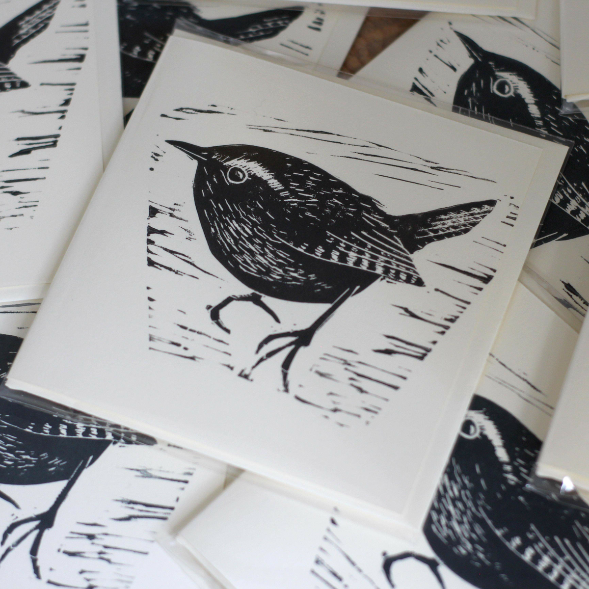 Image of Wren 4x4 inch card