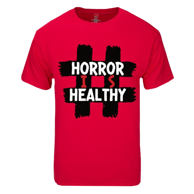 Image of #HORRORISHEALTHY - DEEP RED SHIRT