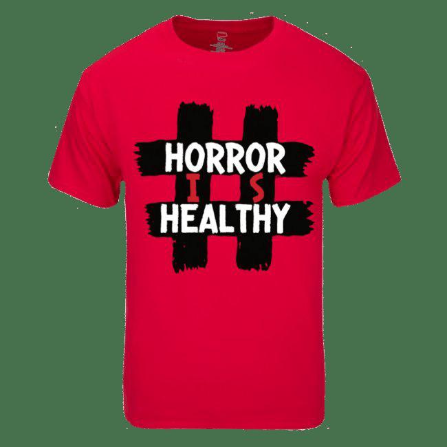 Image of #HORRORISHEALTHY - DEEP RED SHIRT