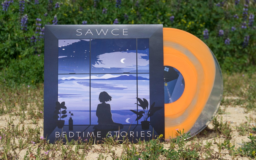 "Image of SAWCE - Bedtime Stories LP [Orange ""SAWCE Stain"" Inside Clear]"