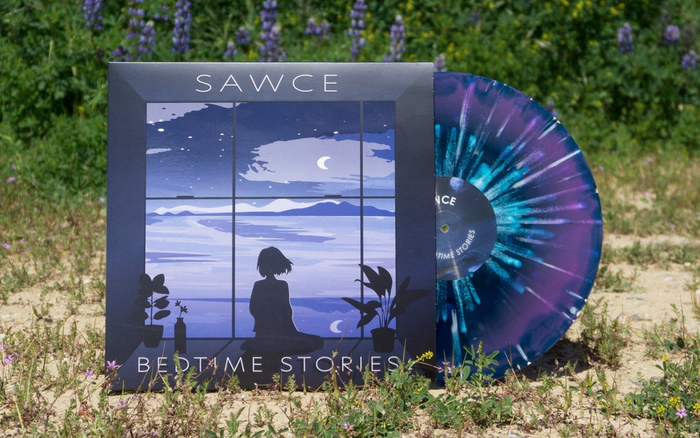 Image of SAWCE - Bedtime Stories LP [Purple & Blue Swirl w/ White Splatter]