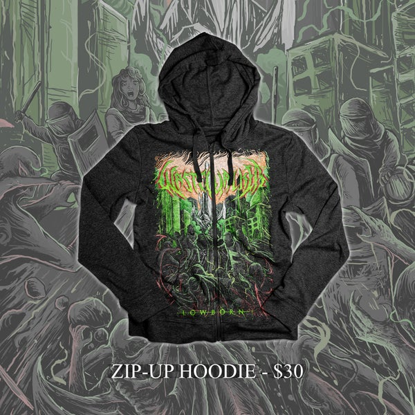 "Image of ""Lowborn"" Zip-up Hoodie"