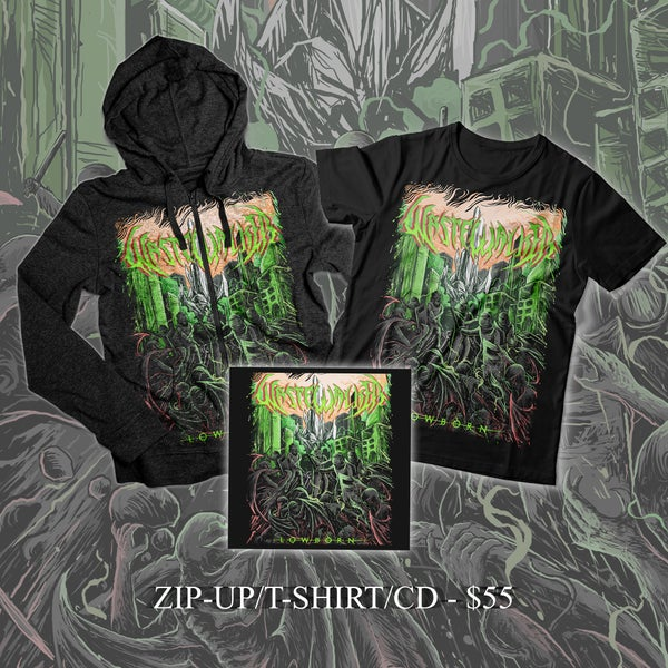 "Image of ""Lowborn"" Zip-up, T-shirt + CD Combo package"