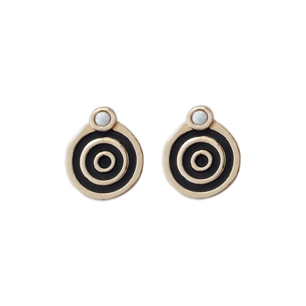 Image of Portal Earrings with Opal
