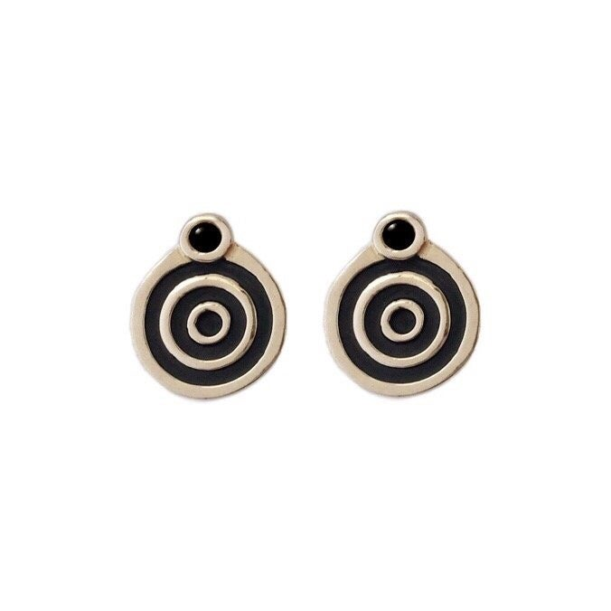 Image of Portal Earrings with Black Onyx