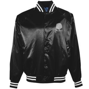 Image of GU2I Logo Satin Baseball Jacket