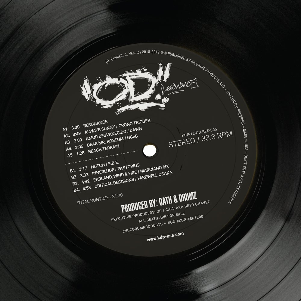 Image of OD: Resonance Vinyl LP (Produced by Oath & Drumz)