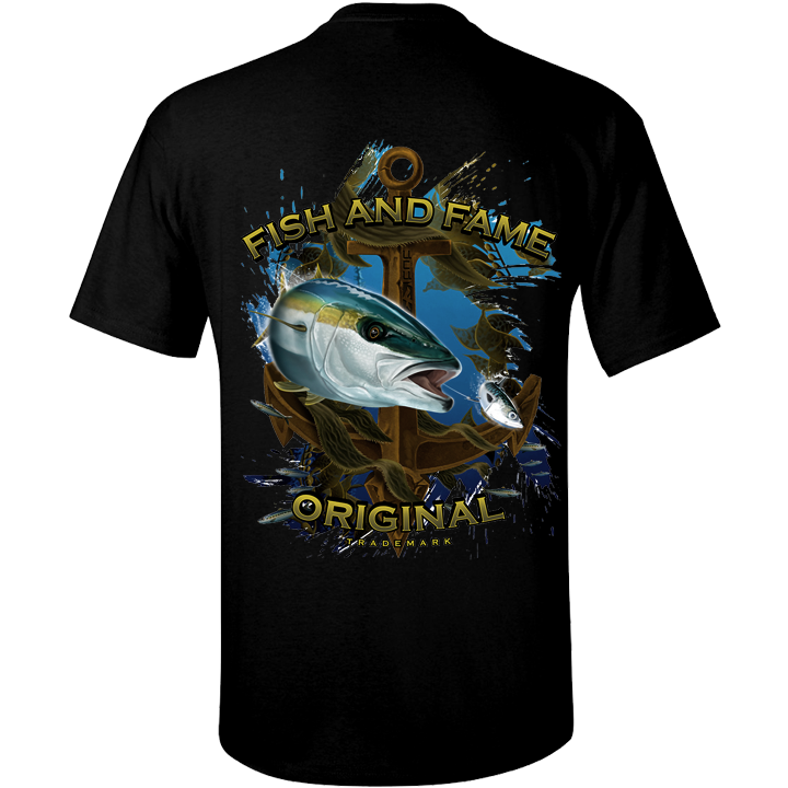 Image of Yellowtail & Anchor Tee (black)