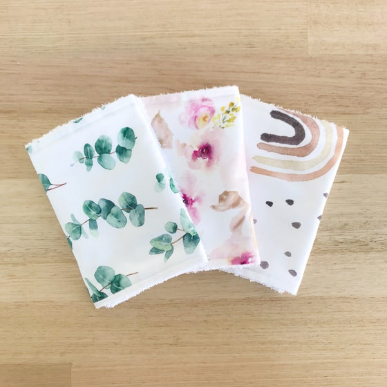 Image of Burp cloths x3