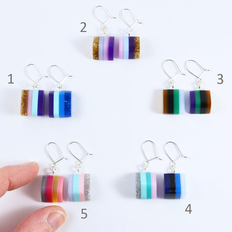 Image of Little Layered Lump Earrings 1 to 5