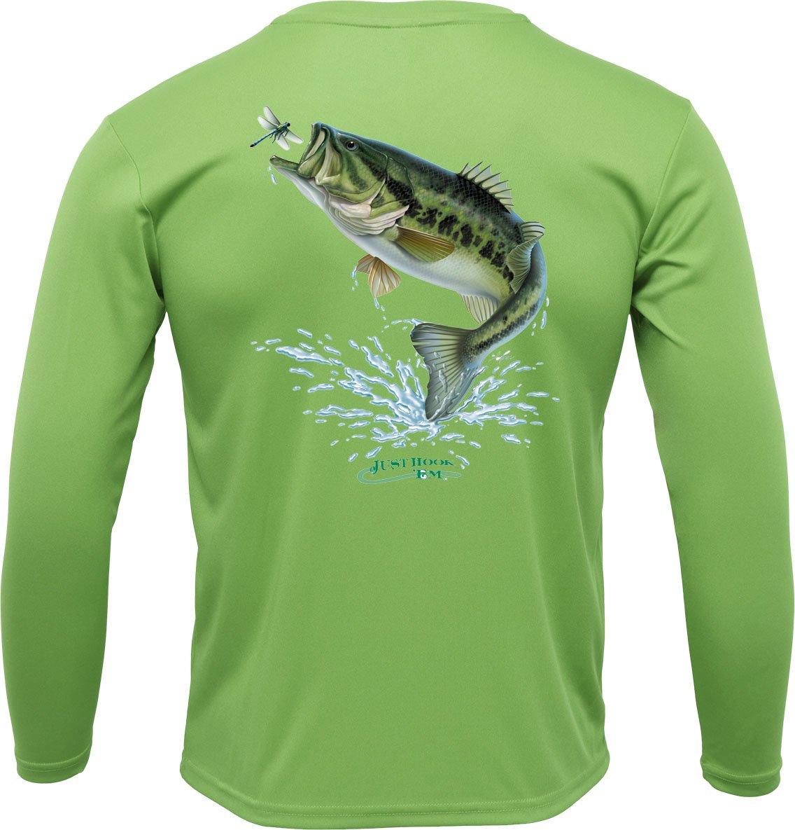 Image of Sublimated L/S Just Hook 'Em™ Performance Bass Shirt - Olive