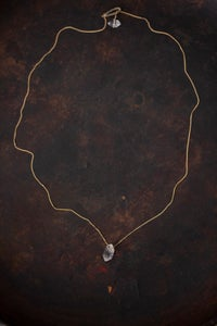 Image of Yasuhide Ono fine 18kt gold necklace with Himalayan chrystal pendant
