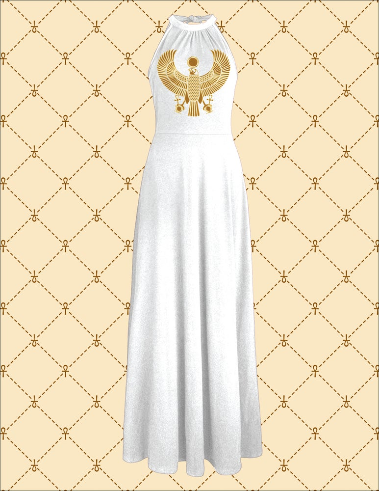 Image of NSC Gold HRU White Off Shoulder Elegant Maxi Long Dress